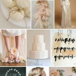 white pumpkin wedding inspiration board