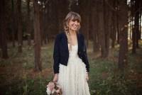 jacket with wedding dress