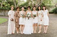 nuetral toned bridesmaids