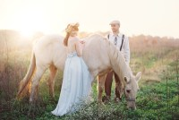 dreamy horse and couple