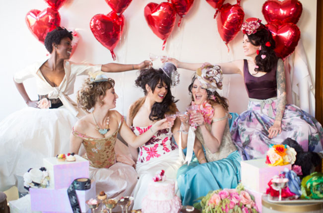 valentines bridal party