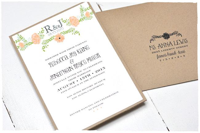 Wedding invitation return address placement yaseen for for Return address on wedding invitations sample