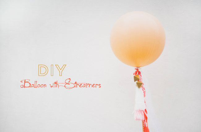 DIY balloon streamers