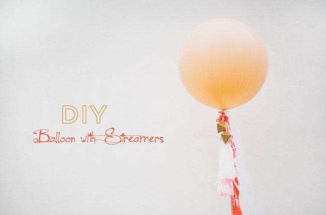 DIY balloon streamers