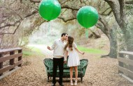 giant green balloons