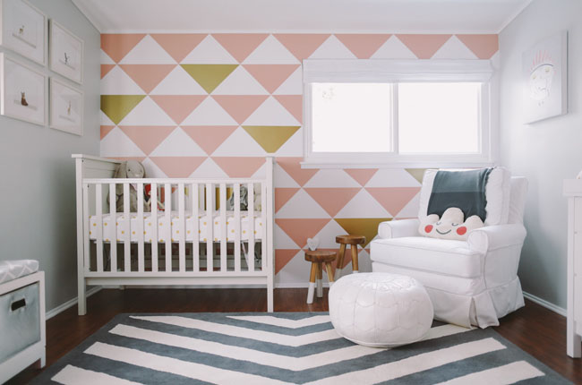 nursery with mur decals