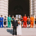 rainbow wedding party