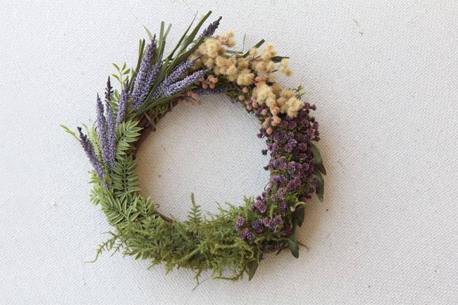 DIY Flower Block Wreath