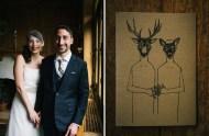 deer wedding illustration