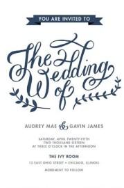 Lovely Lettering Wedding Invitations