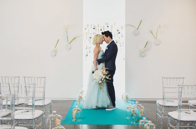 blue modern wedding ideas