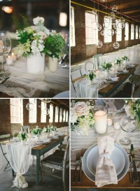 Neutral Wedding Inspiration in a Glass Factory | Green ...