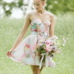 watercolor bridesmaid dress