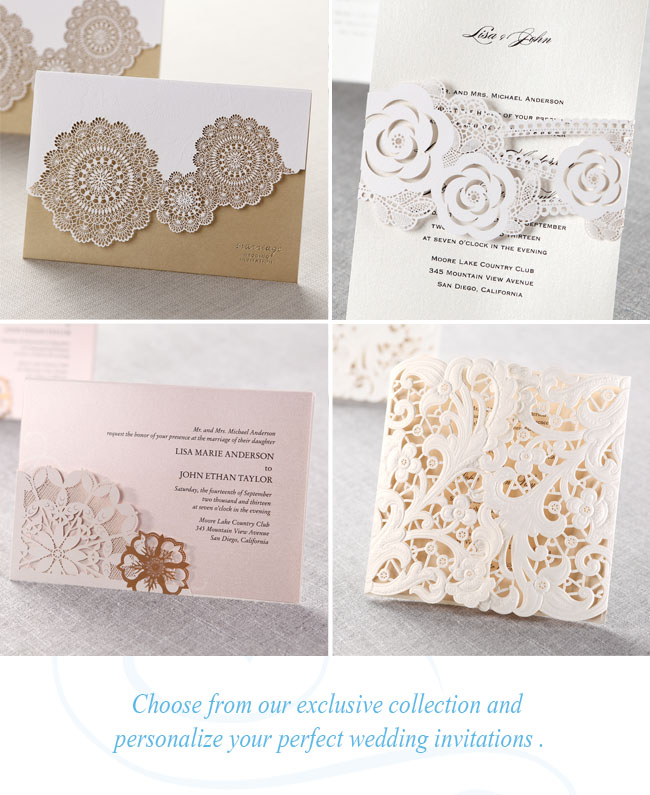 LaserCut Wedding Invitations from B Wedding Invitations