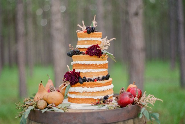 naked rustic cake