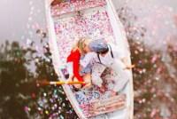 confetti on a canoe