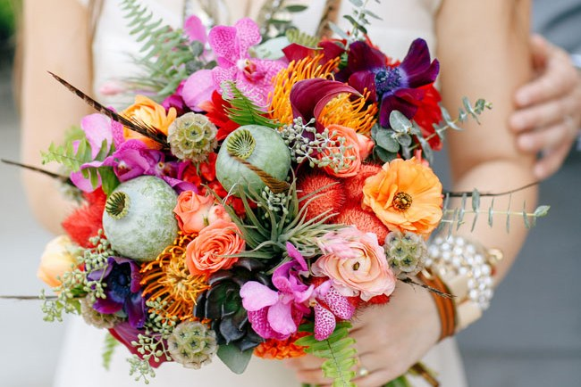 chicago boho inspiration bouquet