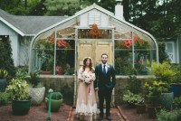 greenhouse bride and groom