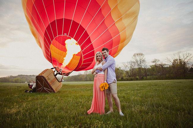 Hot Air Balloon Engagement Photos Lindsey Jarrod