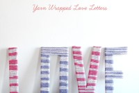 DIY Yarn Wrapped LOVE Letters