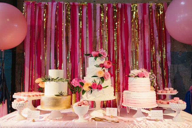 Whimsical Pink  Gold Dallas Wedding Emily  Eric