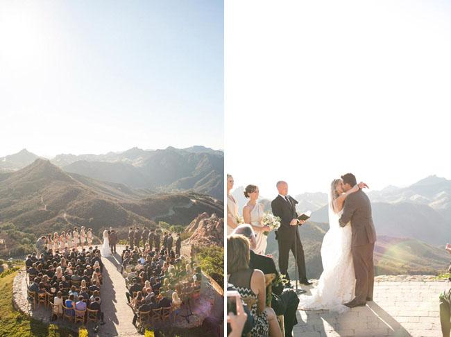 Hilltop Vineyard Wedding at Malibu Rocky Oaks Kristin  Matt