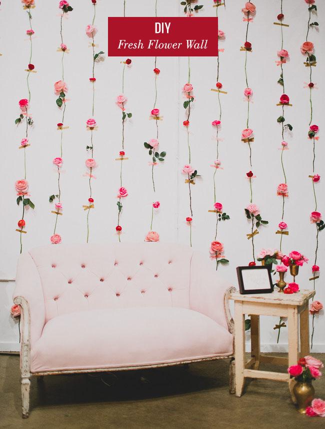 DIY Fresh Flower Wall  Green Wedding Shoes  Weddings