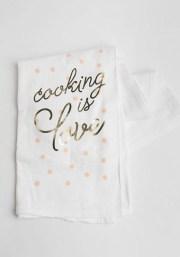 Cooking Is Love Tea Towel