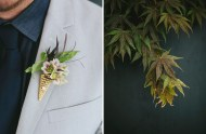 botany inspired boutonniere