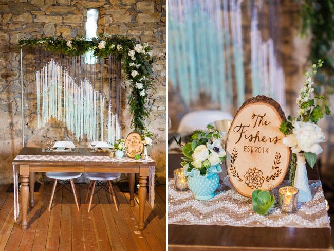Rustic Mint  Gold Barn Wedding Olivia  Greg