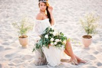 boho beach bridal inspiration