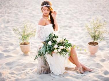 boho beach bridal inspiration