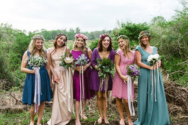 durga-kali reversible bridesmaid dresses
