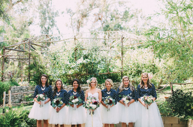 tulle skirt bridesmaids