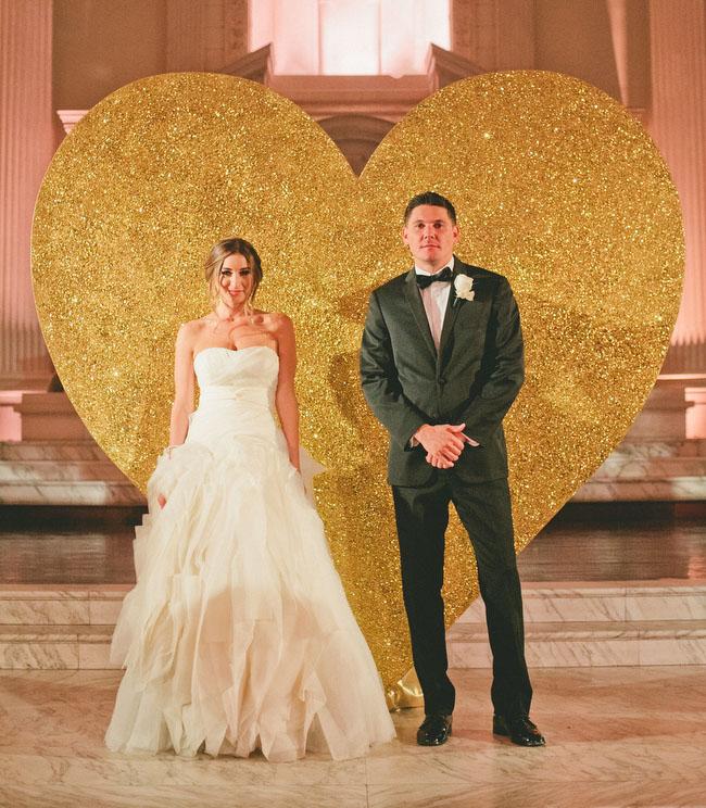 Glamourous Black  Gold Wedding Nicole  Matt