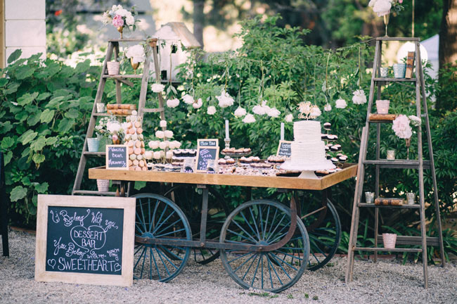 Vintage Rustic-Chic Dessert Cart- Rustic Chic Dessert Tables on earlyivy.com