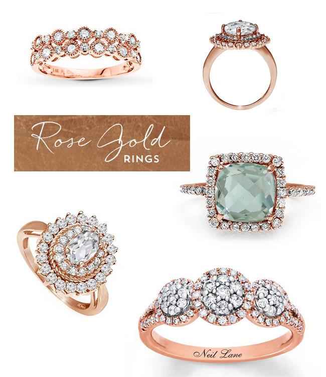 Gemstone Wedding Rings 89 Unique Rose Gold Heirloom Engagement