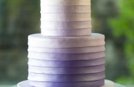 purple ombre layered cake