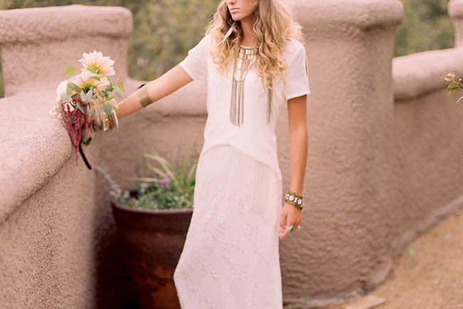 Southwest bohemian bride