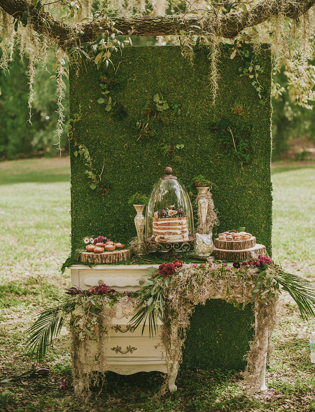 Vintage Chic Themed Dessert Table- Rustic Chic Dessert Tables on earlyivy.com