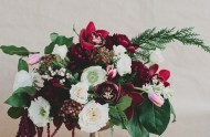 DIY Winter Floral Centerpiece with Marsala