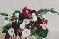 DIY Winter Floral Centerpiece with Marsala
