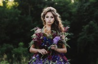 A Dress Made of Flowers - Green Wedding Shoes