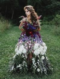A Dress Made of Flowers | Green Wedding Shoes | Weddings ...