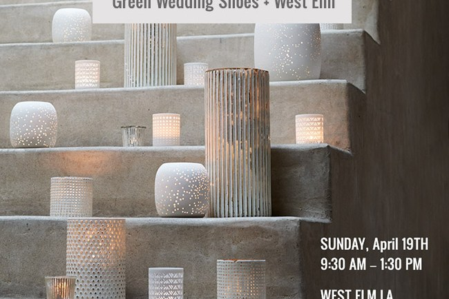Green Wedding Shoes + West Elm Wedding Party