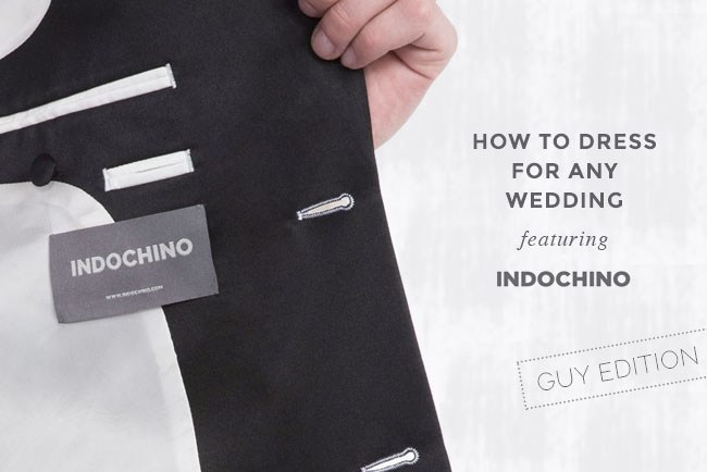 How to Dress for any wedding featuring Indochino