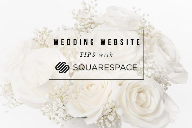 make squarespace wedding website wedsite