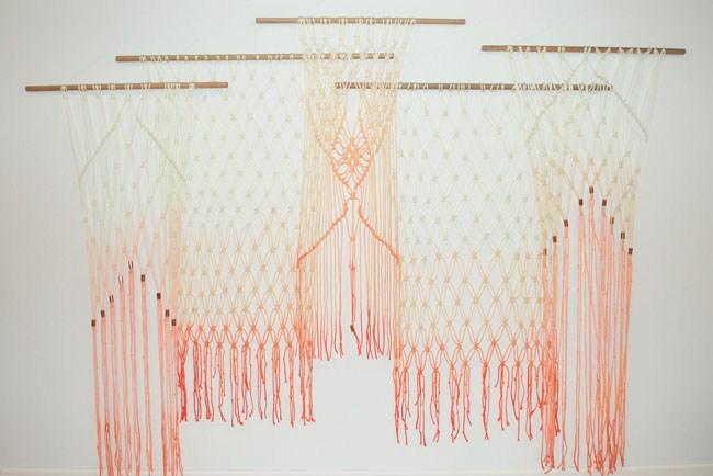 DIY Ombre Macrame Hanging