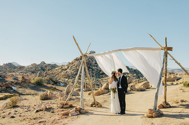 Boho Winter Desert Wedding