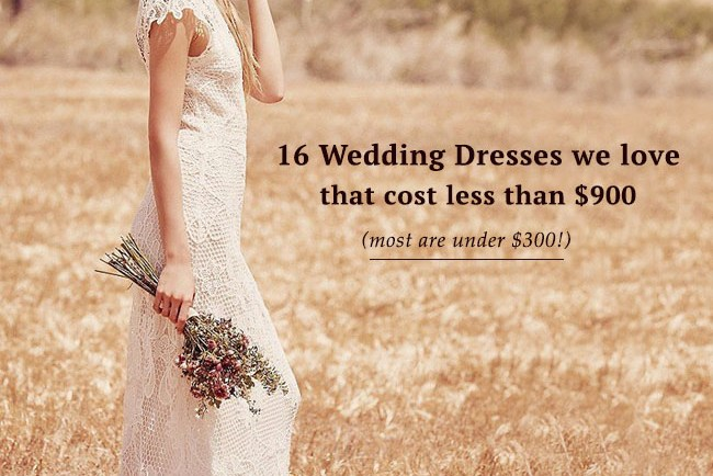 wedding dresses under $900